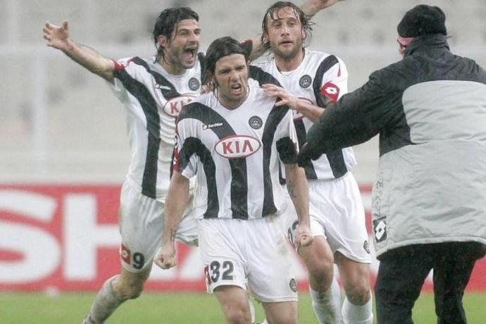 Candela con la maglia dell'Udinese.