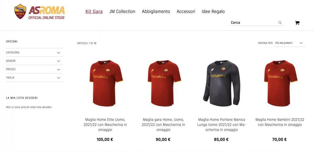 Roma, al via il pre-order della nuova maglia: modelli e prezzi ...